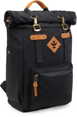 Revelry Supply The Drifter Black Carbon-Lined Rolltop Backpack