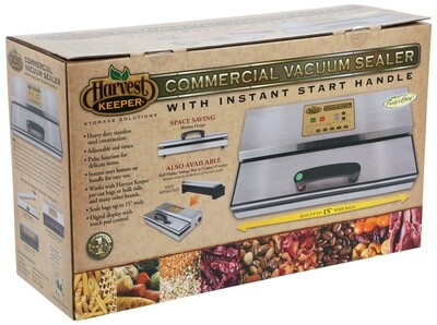 Harvest Keeper Commercial Touch-Control Vacuum Sealer with Instant Start Handle