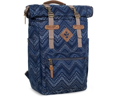 Revelry Supply The Drifter Indigo Carbon-Lined Rolltop Backpack