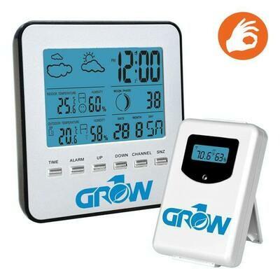 Grow1 Wireless Digital W/Sensor Weather Station Hygrometer Temperature/ Humidity