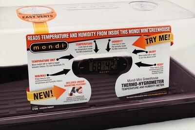 Mondi Digital Mini Greenhouse Hygrometer Temperature/ Humidity