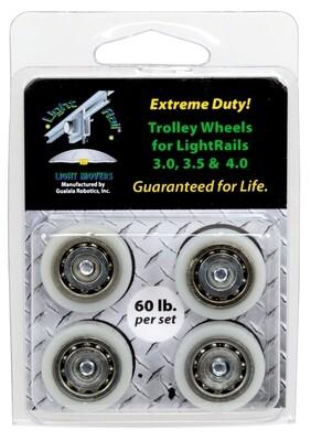LightRail Heavy Duty Trolley Wheel Replacement Kit
