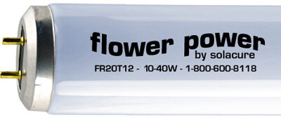 Solacure Flower Power F20 Fluorescent T12 Strip Light Grow Lamp Super UV 2 foot