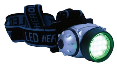 Grower's Edge Headlamp LED Green Light 8-Diode