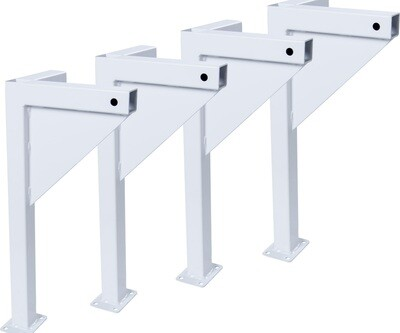 Active Aqua Low Profile White Leg Kit for Small Universal Tray Stand