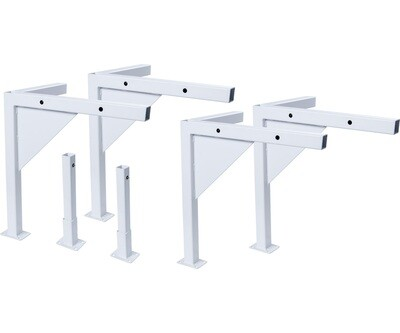 Active Aqua Low Profile White Leg Kit for Large Universal Tray Stand