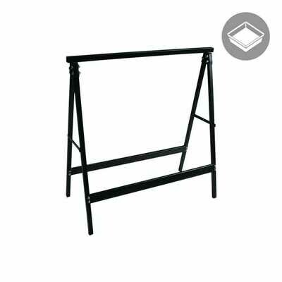 Saw Horses Fixed Tray Stand Pair 29.25x30.75 inch 220 pound