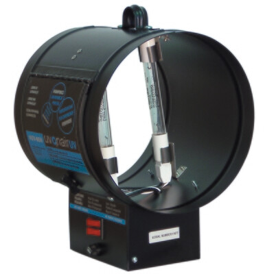 Uvonair UV Inline Duct Booster Ozonator 2 Bulb 8 inch