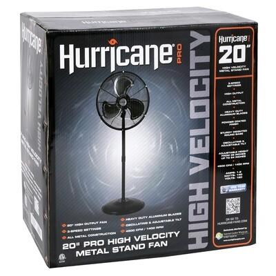 Hurricane Pro High-Velocity Oscillating Metal Heavy Duty Stand Fan 20 inch