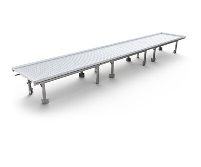 Active Aqua Infinity White Premium Flood Table Tray Infinity Tray Center with Drain 4x8 foot Plus and Minus