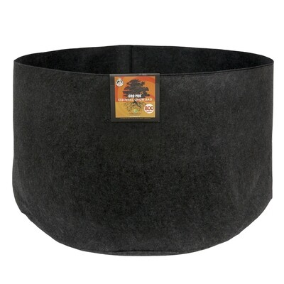 Gro Pro Round Essential Black Fabric Pots no Handles Large Sizes