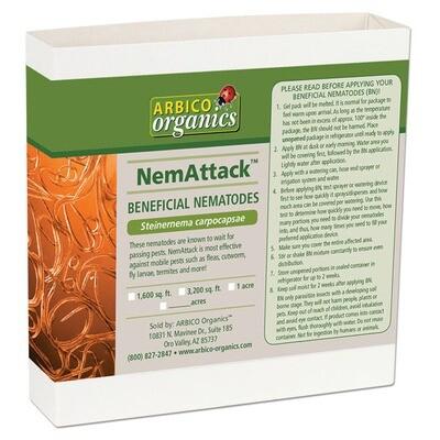 Arbico Organics NemAttack Beneficial Steinernema carpocapsae Nematodes Ranch = 5 acre 250,000,000 unit