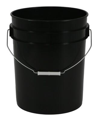 Gro Pro Plastic Black Buckets with Handles