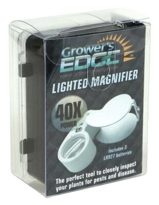 Grower's Edge Illuminated Magnifying Jeweler's Loupe 40x