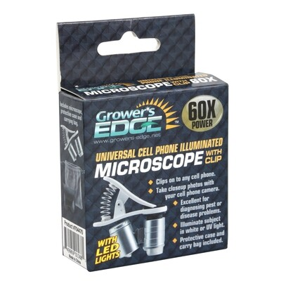 Grower's Edge Universal Cell Phone Microscope 60x