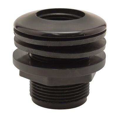 Hydro Flow Thread/Thread Bulkhead 3/4 inch interior 1-1/2 inch exterior