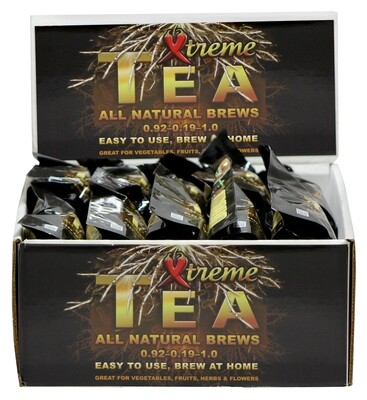 Xtreme Gardening Tea Brews Fungus and Bacteria Tea Kit Display Case 80 gram 20 units with 2 packs in each