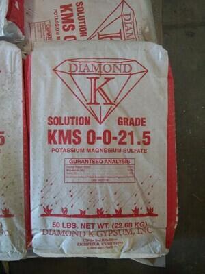 KMS Fines K-Mag Organic Potash 0-0-21.5 50 pound