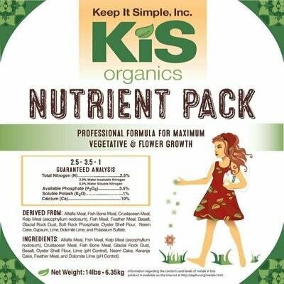 KIS Organics Regular Nutrient Pack 2.5-3.5-1