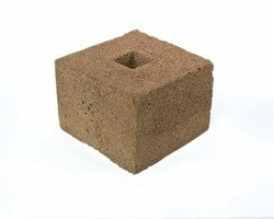 International Horticulture Technologies Square with 40/40 Square Hole Coco Peat Block no Liner single 6x6x4 inch