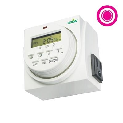 Grow1 Dual Outlet Digital Timer 120 Volt
