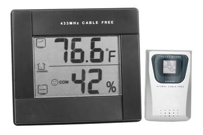 Grower's Edge Digital Large Display Hygrometer with Remote Sensor Temperature/ Humidity