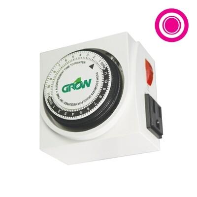 Grow1 Dual Outlet Mechanical Timer 125 volt 15 amp