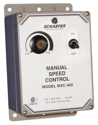Schaefer Manual Fan Speed Controller 12.5 amperage 120/230 volt