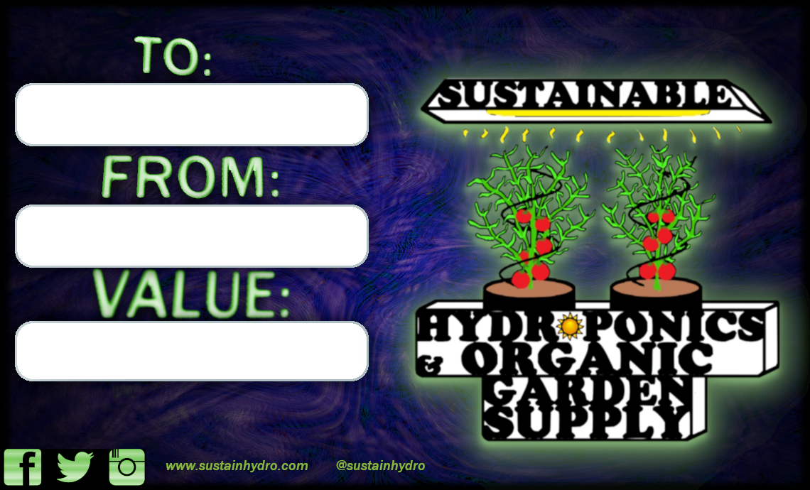 Sustainable Hydroponics & Organic Garden Supply Gift Card
