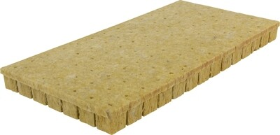 Grodan A-OK 36/40 Wrapped with Hole Rockwool 98 Plug Sheet 1.5x1.5x1.5 inch 10x20 inch