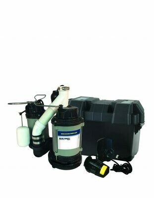 Blue Angel Cast Iron Dual Suction Pump with Integrated Float Switch and Backup System 1/3 horsepower