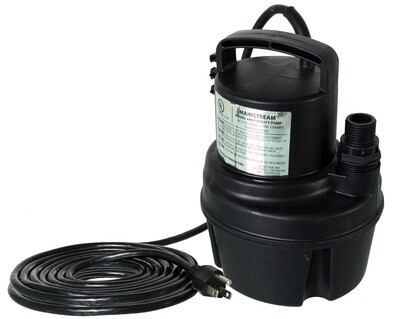 Supreme Hydroponics Utility Sump Pump 1400-1900 gallon per hour 1/6 HP