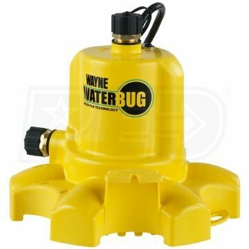 Wayne Dual Discharge Thermoplastic Utility Pump with Multi-Flo Technology and Dual Bronze Discharges 1/6 horsepower