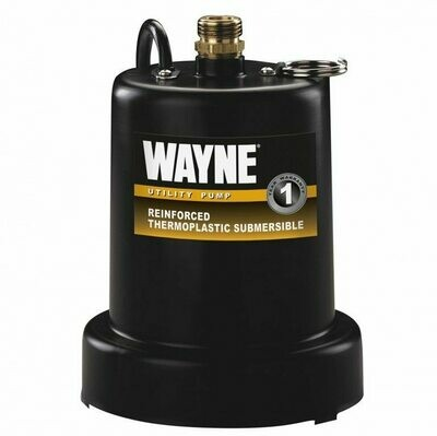 Wayne Heavy Duty TSC130 Thermoplastic Utility Pump with Bronze Discharge 1/4 horsepower