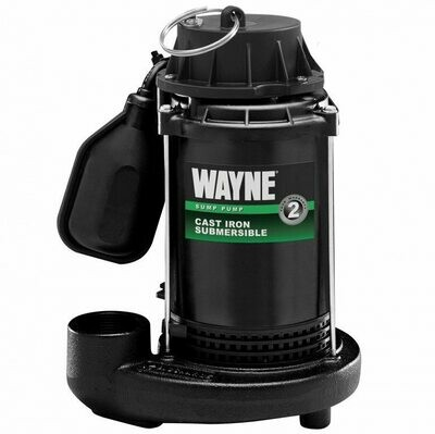 Wayne Tether Float Switch Cast Iron Epoxy-Coated Sump Pump with 8' power cord 1/2 horsepower