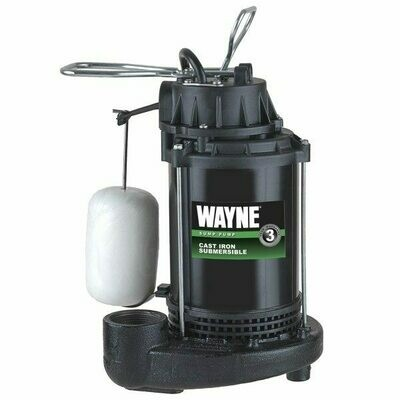 Wayne Vertical Float Switch (mechanical) Cast Iron Epoxy-Coated Sump Pumps with 8' power cord