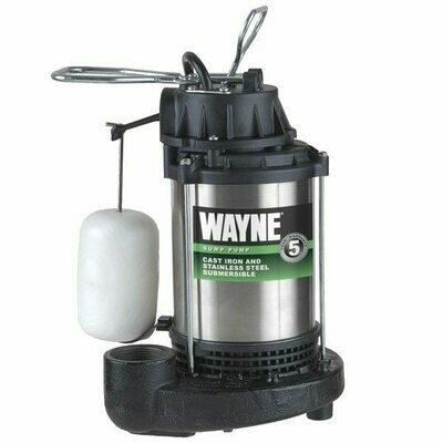 Wayne Vertical Float Switch (mechanical) Cast Iron Stainless Steel Sump Pumps with 8' power cord