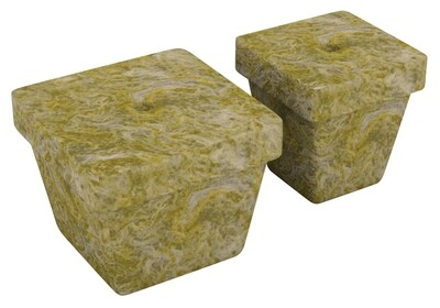 Grodan A-OK 50/40 Unwrapped with Hole Rockwool 50 Plug Sheet 2x2x2 inch 10x20 inch