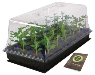 Super Sprouter Heated Propagation Station with Dome 10x20 inch