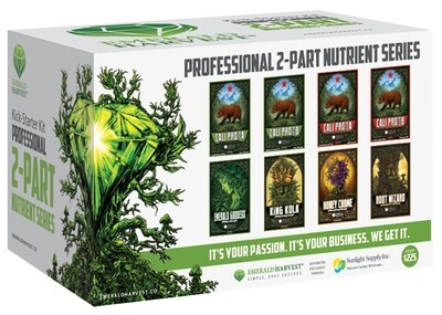 Emerald Harvest Kick-Starter Start Kit 2 part Base, 1 quart 8 quart total