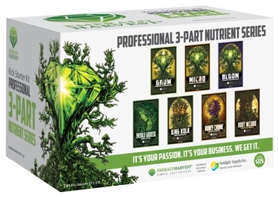 Emerald Harvest Kick-Starter Start Kit 3 part Base, 1 quart 7 quart total
