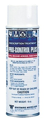 Whitmire Pro Control Total Release Aerosol Insecticide Prescription Treatment 6 fluid ounce