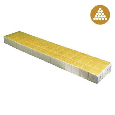 Cultilene Optidrain Unwrapped Rockwool Block with Liner 1.5x1.5x1.5 inch