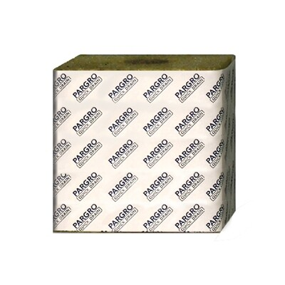 Grodan Pargro Quick Drain Unwrapped with Hole Rockwool Block 6x6x6 inch