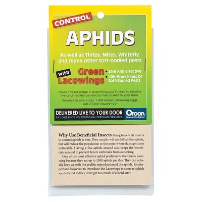 Orcon Pre-paid Certificate Green Lacewing Aphid, Mealybug and Whitefly control eggs 1,000 unit
