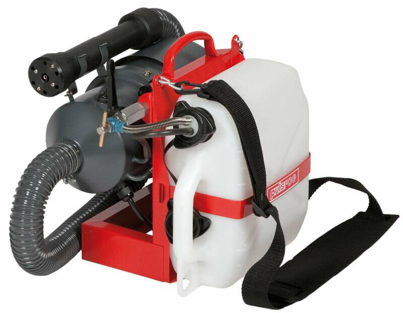 Dramm PulsFOG Turbo ULV Hybrid Electric Cold Fogger Sprayer with Carry Strap 1.3 gallon 5 liter 110 volt 75 foot