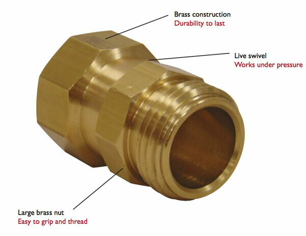 Dramm Super-Duty Brass Hose Swivel 3/4 inch