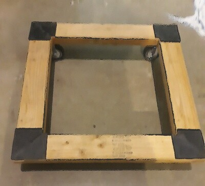 Sustainable Systems Square Wood Dolly with Rubber Grips