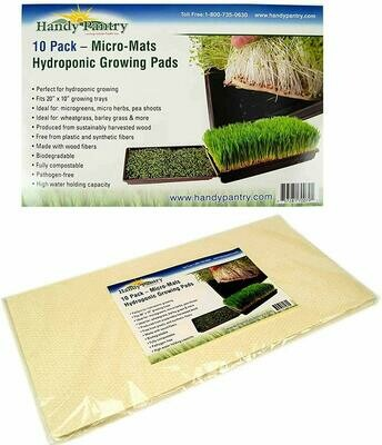 Handy Pantry Hydroponic Growing Pad Capillary Micro-Mat Pack 10x20 inch 10/pack