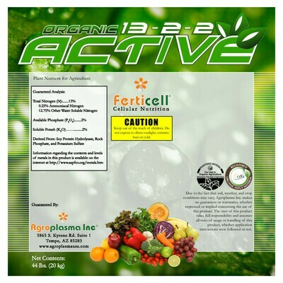 Ferticell Organic Active 13-2-2 44 pound